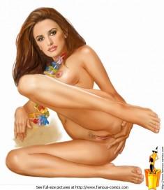 Nude celebrity Penelope Cruz Famous Comics Penelope Cruz sex