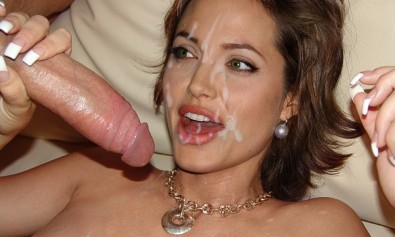 Angelina Jolie fake BJ